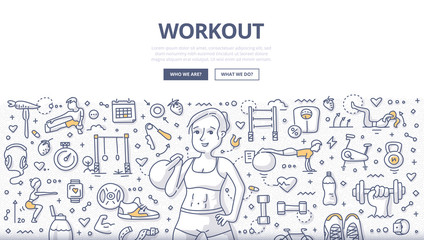 Workout Doodle Concept