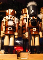 Christmas nutcracker soldiers at German Christmas market