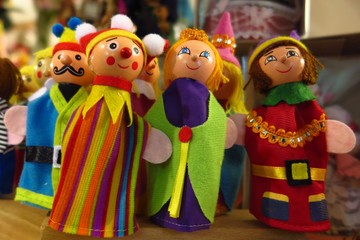 old-fashioned finger puppet toys colorful assortment