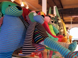 stuffed animals colorful assortment