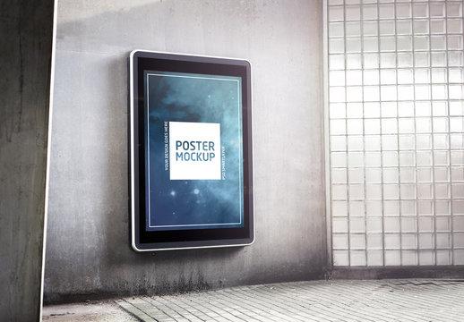 Outdoor Kiosk Advertisement Mockup 2