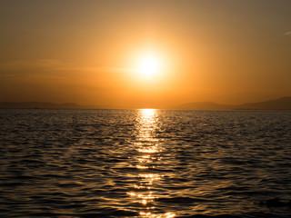 sunset by the sea, izmir turkey