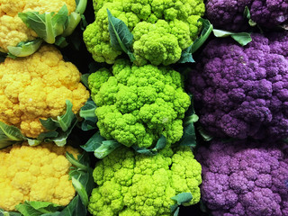 Cauliflower in Three Colors