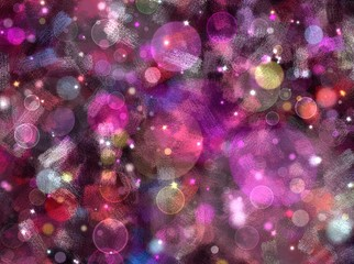 glitter and bokeh magical glowing background idea for christmas and new year theme
