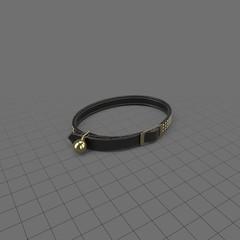 Metal studded cat collar