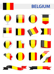 Belgium Flag Vector Set