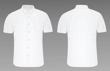 Short sleeve shirt. vector illustration Fotobehang