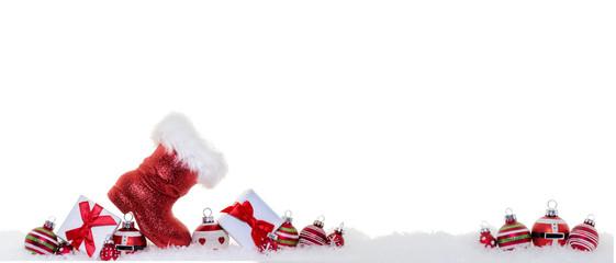 Weihnachten Banner Geschenke