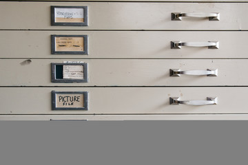 File cabinet at a nature preserve