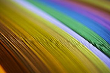 Rainbow paper strips macro