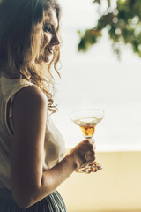 Woman With a Cocktail Drink