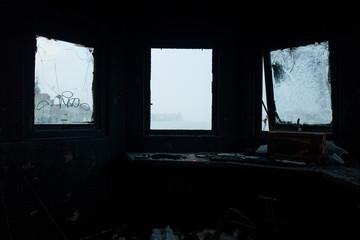 Burned house in Venice