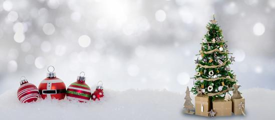 Weihnachten Schnee Kugeln Winter