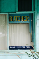 Old Butchers corner shop no longer in business