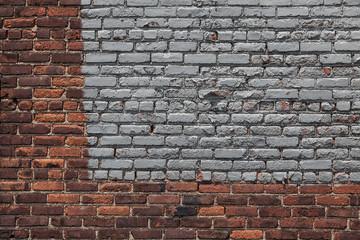 Silver Painted Brick Wall