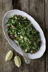Food: bulgur tabbouleh salad