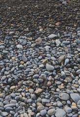 A pebble beach shoreline