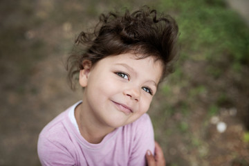 Portrait of a confident little girl looking at camera