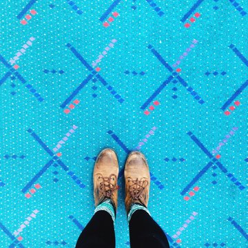 "it's hard to avoid if you're scrolling through Instagram.""""ortland's PDX airport carpet is one of the biggest sensations on the int"""