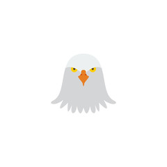 Flat Icon Eagle Head Element. Vector Illustration Of Flat Icon Bird Isolated On Clean Background. Can Be Used As Eagle, Bird And Head Symbols.