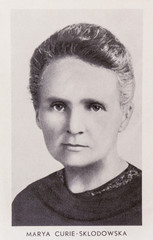Portrait of the scientist Marie Curie