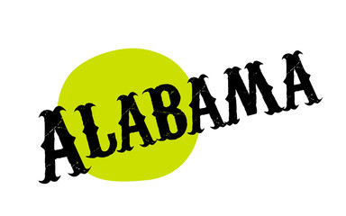 ALABAMA sticker. Authentic design graphic stamp. Original series