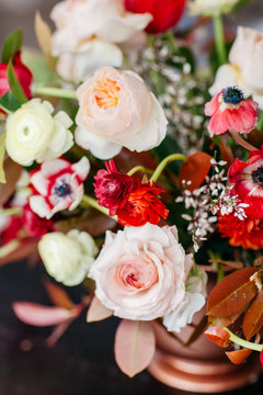 Close up of flowers bouquet