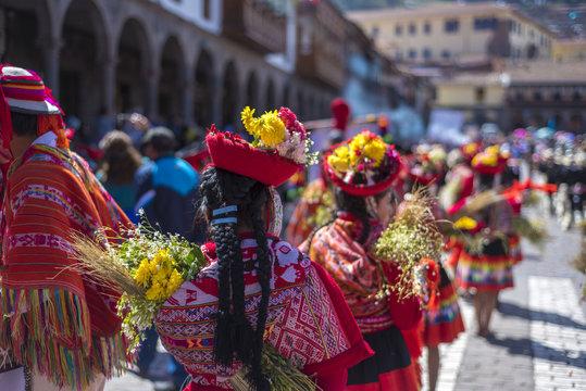 festivities in cusco, Peru.