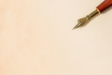 Antique ink pen paper texture Vintage style background
