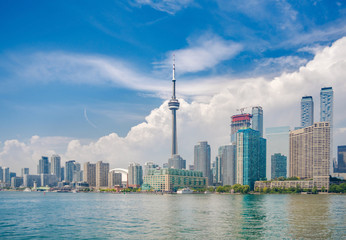 Toronto skyline over lake Ontario. Urban architecture - Canada