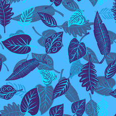 nice leaves pattern illustration HD