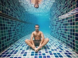 Alone underwater