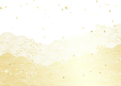 波柄 新年 白