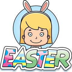 Cartoon Easter Bunny Girl Graphic