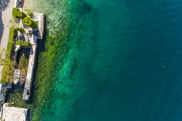 Aerial view of Stoliv, Bay Kotor, Montenegro