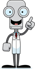 Cartoon Scientist Robot Idea