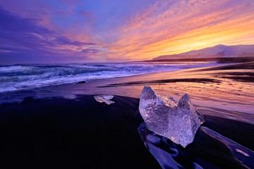 Jökulsárlón Beach Sunset