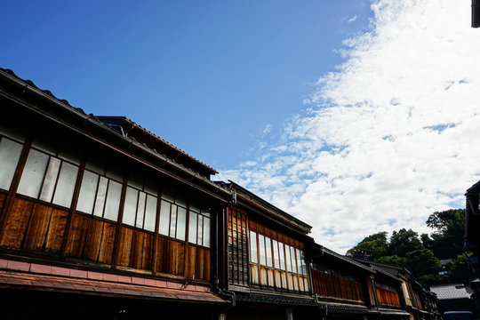 日本の古い町並み ひがし茶屋街 江戸時代 加賀藩
