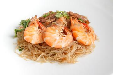 Steamed Glass Noodles with Shrimp