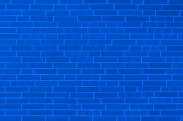 Blaue Backsteinmauer