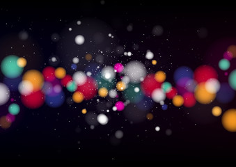 Colorful background with defocused lights. Vector Illustration