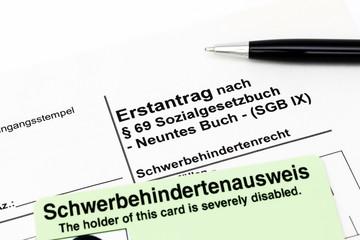 Antrag auf Schwerbehindertenausweis