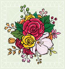 flower bouquet vector illustration