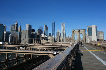 Brooklyn Bridge New York Manhattan Hudson River