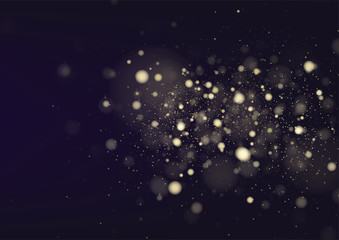 Glitter vintage lights defocused background. silver and black. Christmas background. Vector illustration