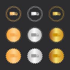 LKW Wagen - Bronze, Silber, Gold Medaillen