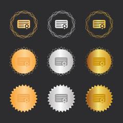 Zertifikat - Bronze, Silber, Gold Medaillen
