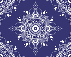 Vector seamless pattern with mandala