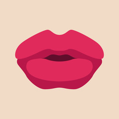 lips  vector illustration style Flat front