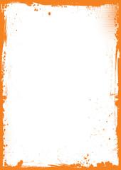 orange and black Halloween background with grunge border